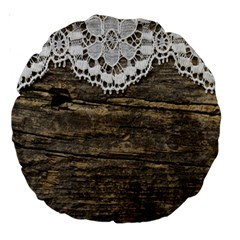 Shabbychicwoodwall Large 18  Premium Round Cushions by Love888