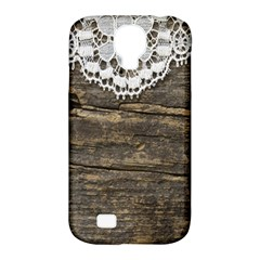 Shabbychicwoodwall Samsung Galaxy S4 Classic Hardshell Case (pc+silicone) by 8fugoso