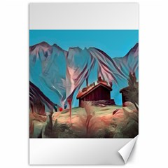 Modern Norway Painting Canvas 20  X 30   by 8fugoso