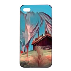 Modern Norway Painting Apple Iphone 4/4s Seamless Case (black) by 8fugoso
