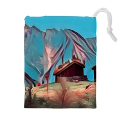 Modern Norway Painting Drawstring Pouches (extra Large) by 8fugoso