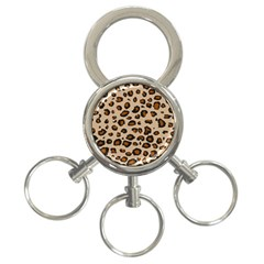 Leopard Print 3 Ring Key Chains by TRENDYcouture