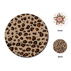 Leopard Print Playing Cards (round)  by TRENDYcouture