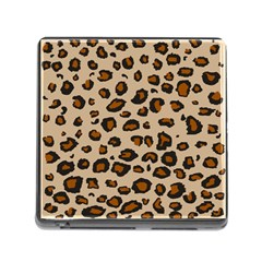 Leopard Print Memory Card Reader (square) by TRENDYcouture