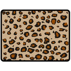 Leopard Print Double Sided Fleece Blanket (large)  by TRENDYcouture