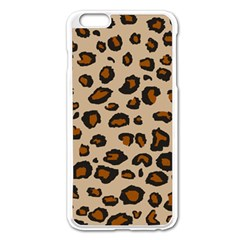 Leopard Print Apple Iphone 6 Plus/6s Plus Enamel White Case by TRENDYcouture