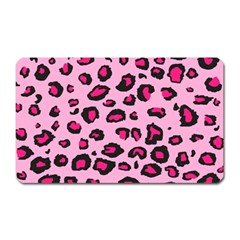 Pink Leopard Magnet (rectangular) by TRENDYcouture
