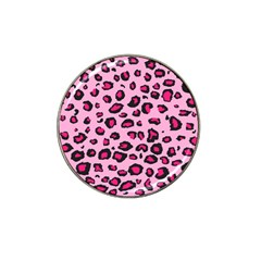 Pink Leopard Hat Clip Ball Marker (10 Pack) by TRENDYcouture