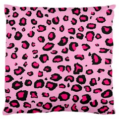 Pink Leopard Standard Flano Cushion Case (one Side) by TRENDYcouture