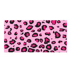 Pink Leopard Satin Wrap by TRENDYcouture