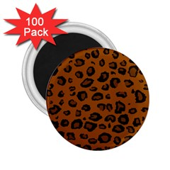 Dark Leopard 2 25  Magnets (100 Pack)  by TRENDYcouture