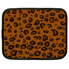 Dark Leopard Netbook Case (large) by TRENDYcouture