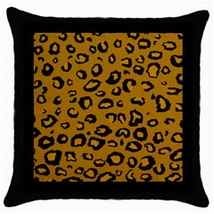 Golden Leopard Throw Pillow Case (black) by TRENDYcouture