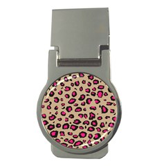 Pink Leopard 2 Money Clips (round)  by TRENDYcouture