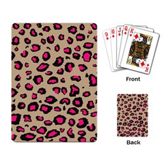 Pink Leopard 2 Playing Card by TRENDYcouture