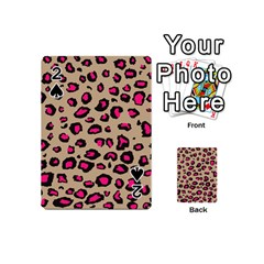 Pink Leopard 2 Playing Cards 54 (mini)  by TRENDYcouture