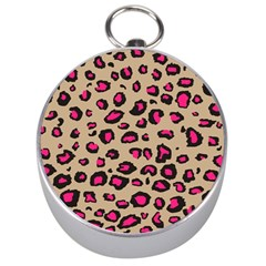 Pink Leopard 2 Silver Compasses by TRENDYcouture