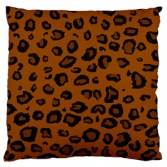 Dark Leopard Large Cushion Case (one Side) by DreamCanvas