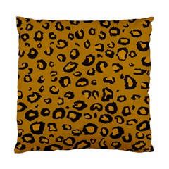 Golden Leopard Standard Cushion Case (two Sides) by DreamCanvas