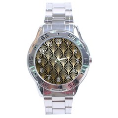 Art Deco Stainless Steel Analogue Watch by 8fugoso