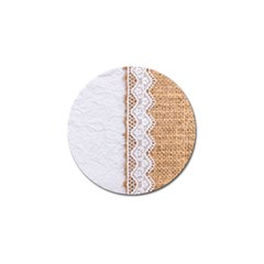 Parchement,lace And Burlap Golf Ball Marker (4 Pack) by Love888