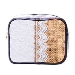 Parchement,lace And Burlap Mini Toiletries Bags by 8fugoso