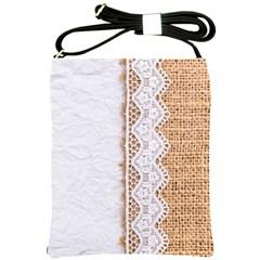 Parchement,lace And Burlap Shoulder Sling Bags by Love888