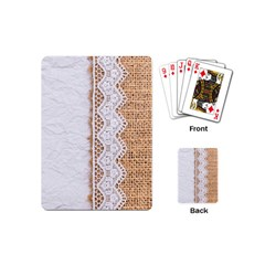 Parchement,lace And Burlap Playing Cards (mini)  by 8fugoso