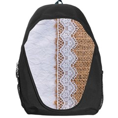 Parchement,lace And Burlap Backpack Bag by 8fugoso
