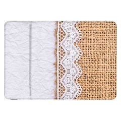 Parchement,lace And Burlap Samsung Galaxy Tab 8 9  P7300 Flip Case by 8fugoso