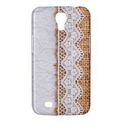 Parchement,lace And Burlap Samsung Galaxy Mega 6 3  I9200 Hardshell Case by 8fugoso