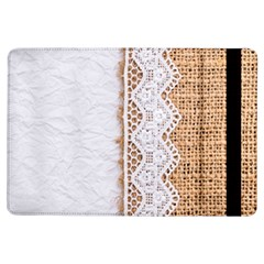 Parchement,lace And Burlap Ipad Air Flip by 8fugoso
