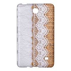 Parchement,lace And Burlap Samsung Galaxy Tab 4 (7 ) Hardshell Case  by 8fugoso