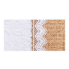 Parchement,lace And Burlap Satin Wrap by 8fugoso