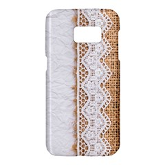 Parchement,lace And Burlap Samsung Galaxy S7 Hardshell Case  by 8fugoso