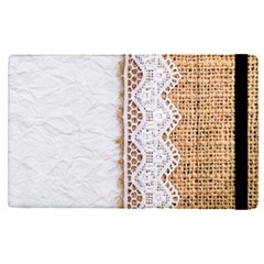 Parchement,lace And Burlap Apple Ipad Pro 9 7   Flip Case by 8fugoso