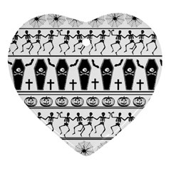 Halloween Pattern Ornament (heart) by ValentinaDesign