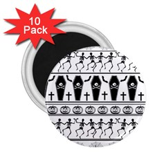 Halloween Pattern 2 25  Magnets (10 Pack)  by ValentinaDesign