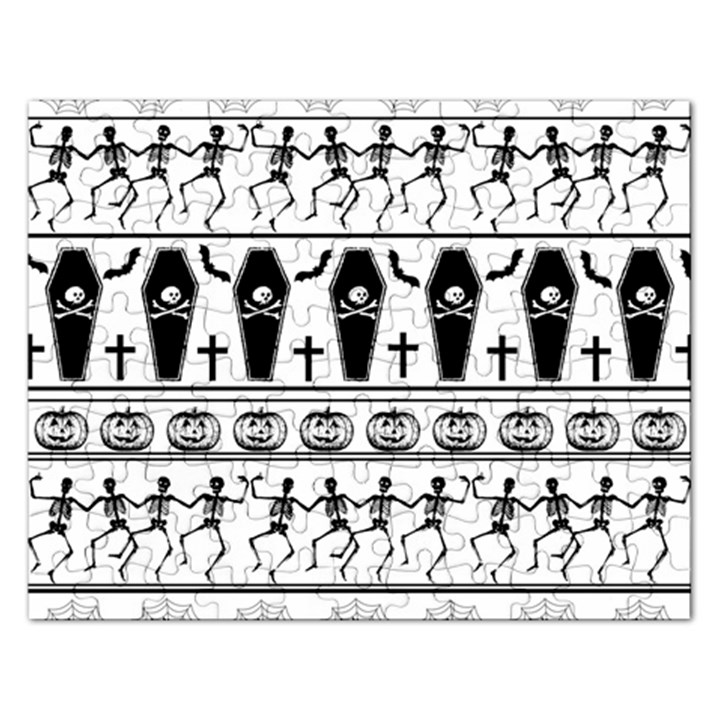 Halloween pattern Rectangular Jigsaw Puzzl