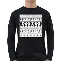 Halloween Pattern Long Sleeve Dark T Shirts by ValentinaDesign