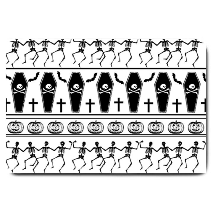 Halloween pattern Large Doormat