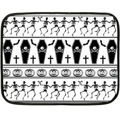 Halloween Pattern Double Sided Fleece Blanket (mini)