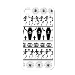 Halloween Pattern Apple Iphone 4 Case (white) by ValentinaDesign