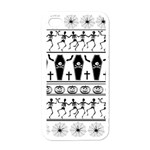 Halloween pattern Apple iPhone 4 Case (White) Front