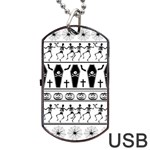 Halloween pattern Dog Tag USB Flash (Two Sides) Front