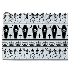 Halloween Pattern Cosmetic Bag (xxl)  by ValentinaDesign