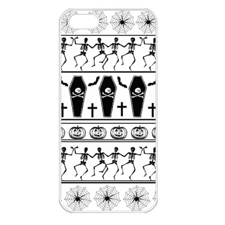 Halloween pattern Apple iPhone 5 Seamless Case (White)