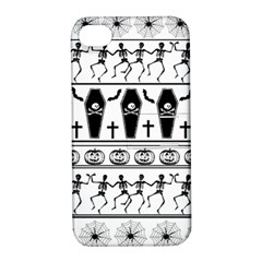 Halloween Pattern Apple Iphone 4/4s Hardshell Case With Stand by ValentinaDesign