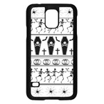 Halloween pattern Samsung Galaxy S5 Case (Black) Front