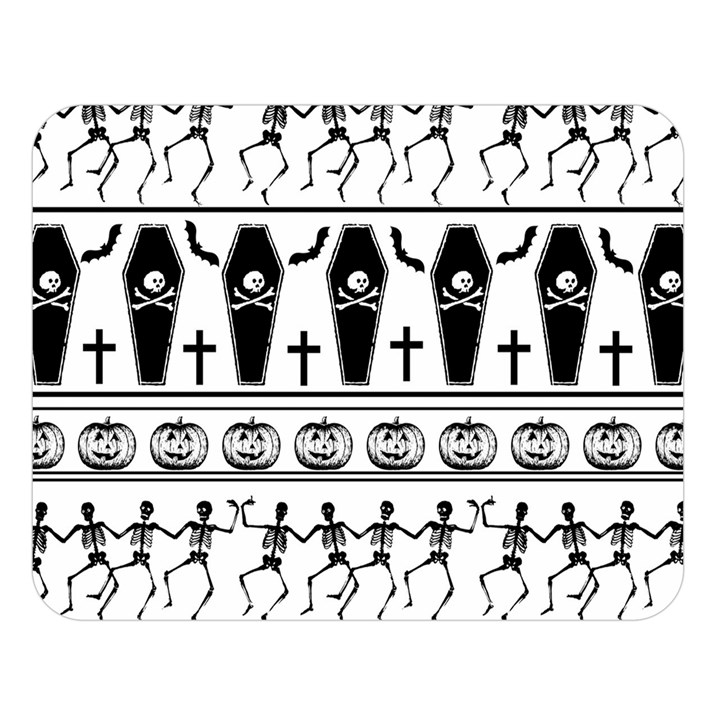 Halloween pattern Double Sided Flano Blanket (Large)